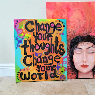change your thoughts change your world eileenaart  painted  quotes