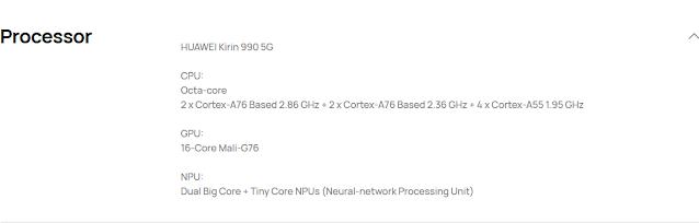 Huawei Specs