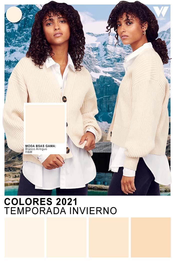 Colores 2021 paleta de colores otoño invierno 2021 blanco antiguo