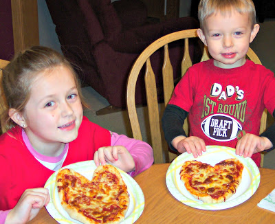 valentine traditions, heart shaped pizza