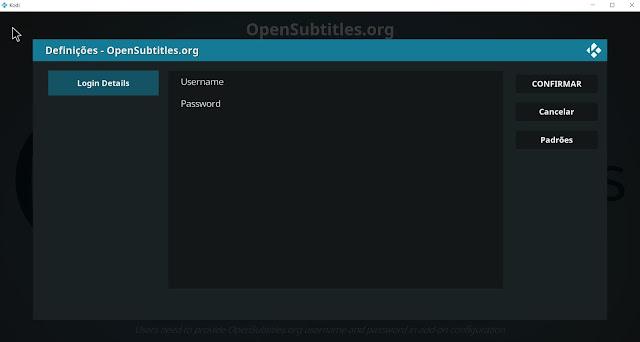 Tutorial de Como Configurar o serviço de legendas no Kodi