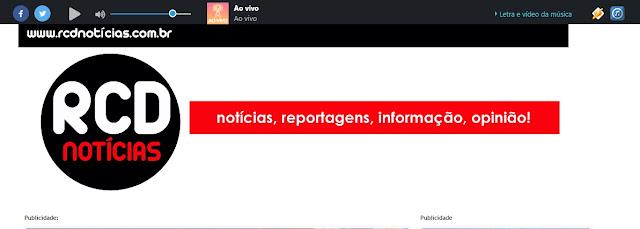 Site RCD notícias está retransmitindo programa eleitoral de Roncador