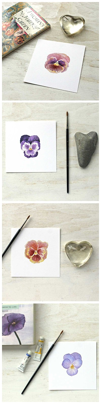 Set of Pansy Watercolor Prints