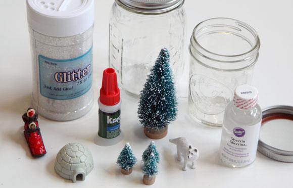 как сделать снежный шар