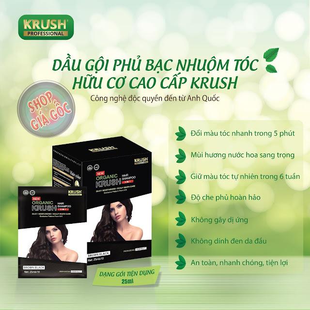 Cách hoạt động Dầu gội nhuộm tóc Krush