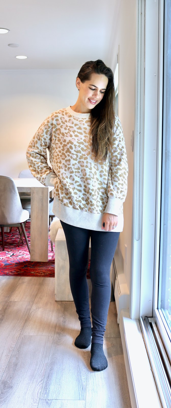 Jules in Flats - Oversized Leopard Sweatshirt (Easy Work from Home Outfit)