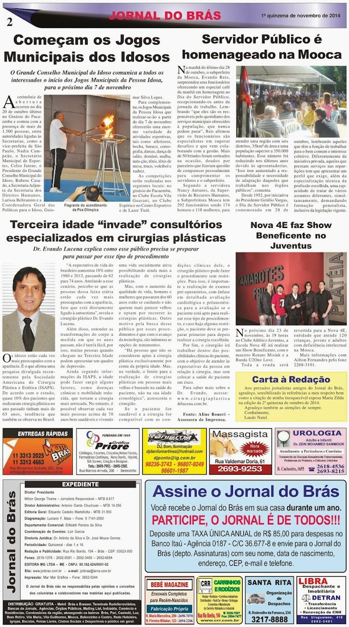 Destaques da Ed. 260 - Jornal do Brás