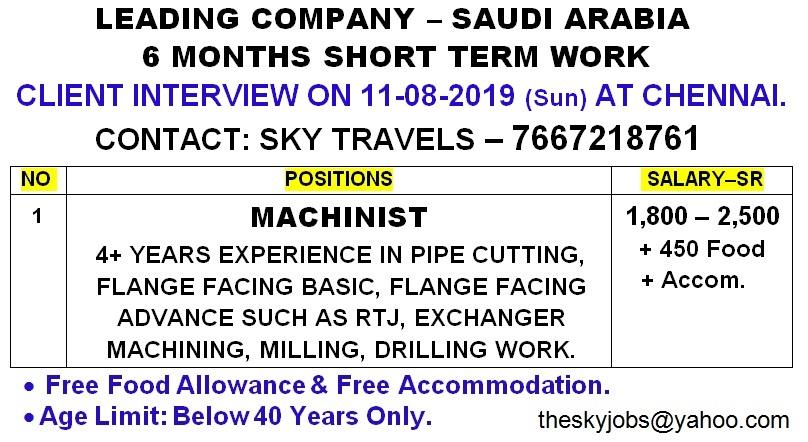 GULF JOBS INTERVIEWS 9-8-2019 – GCC JOBS FOR YOU