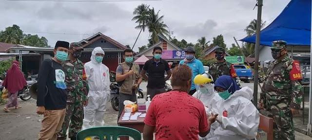 157 Pedagang Pasar Bungadidi Jalani Rapid Test, Tujuh Diantaranya Reaktif