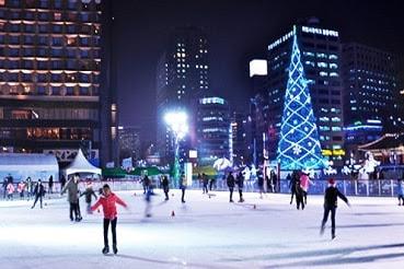 Tips Wisata Musim Dingin di Korea Selatan Ice Skating di Arena Outdoor