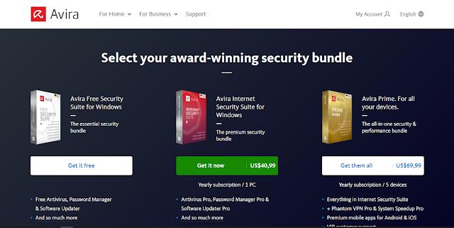Antivirus Gratis Terbaik Yang Ringan Untuk Laptop - Avira free antivirus