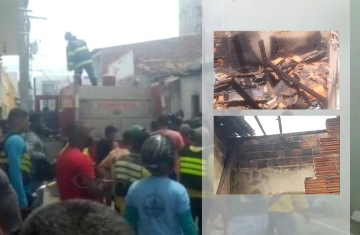 Em Juazeiro, incêndio atinge residência e deixa grande parte do imóvel destruído em área central da cidade - Portal Spy Notícias de Juazeiro e Petrolina