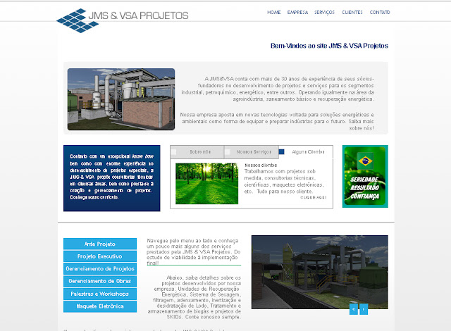 Site institucional confeccionado