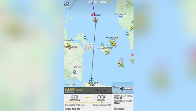 Viral Screenshot Masih Adanya Penerbangan dari China ke Indonesia saat Corona