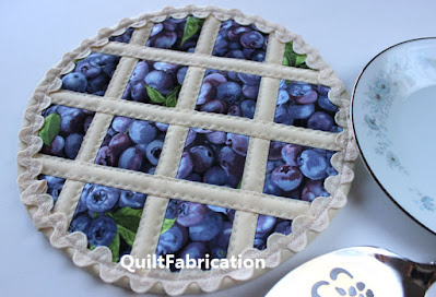 blueberry lattice topped pie