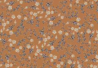 Flower textile repeat design