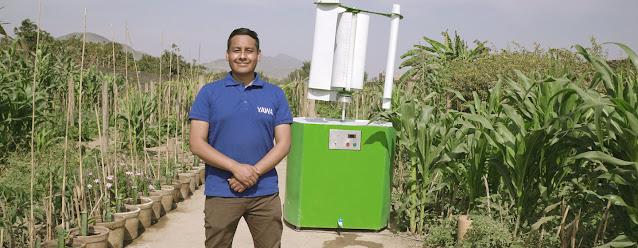 Max Hidalgo ha desarrollado una tecnología para extraer el agua del aire.