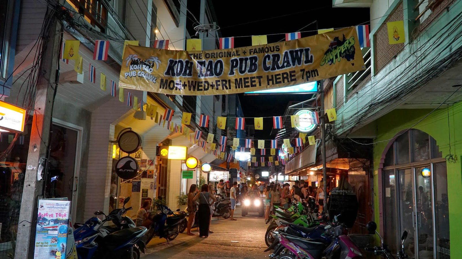 The Koh Tao pubcrawl takes place here every Monday, Wednesday and Friday, so come on these days if you want to take part in the fun