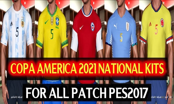 Copa America 2021 National Kits For PES 2017