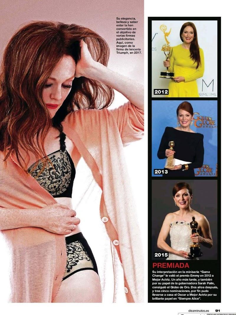Julianne Moore Featured in Diez Minutos Magazine- Spain December 2020