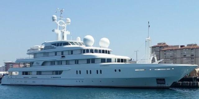 Kapal pesiar (yacht) Tueq milik Raja Salaman dari Arab Saudi (Cristina Quicler)