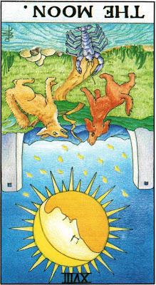 The Moon Reversed Tarot Card Meanings- Major Arcana