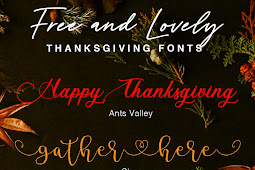Fall Head Over Heels For These Free and Lovely Thanksgiving Fonts