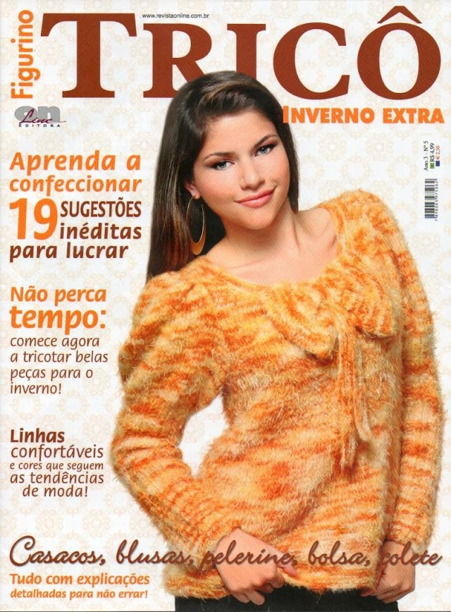 Figurino Tricô Inverno Extra-Revista tricô Completa
