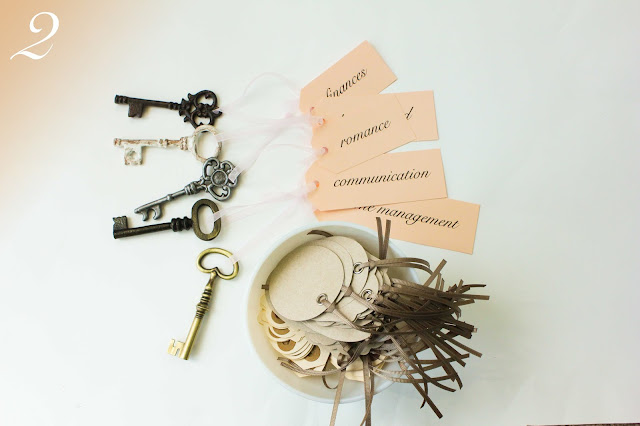keys to marriage bridal shower game