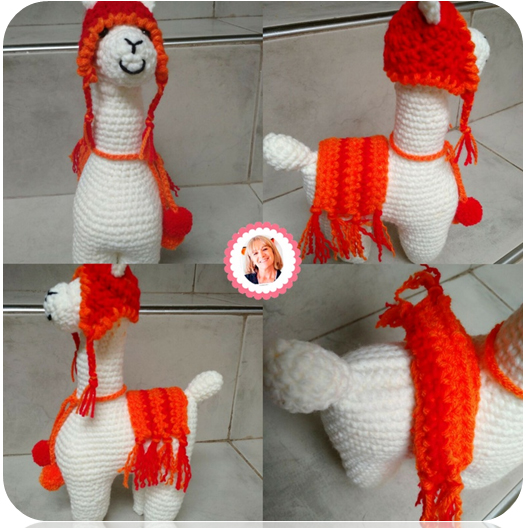 Alan Craft Crochet Diy: Llama Alpaca Amigurumi - Paso a Paso | 528x526