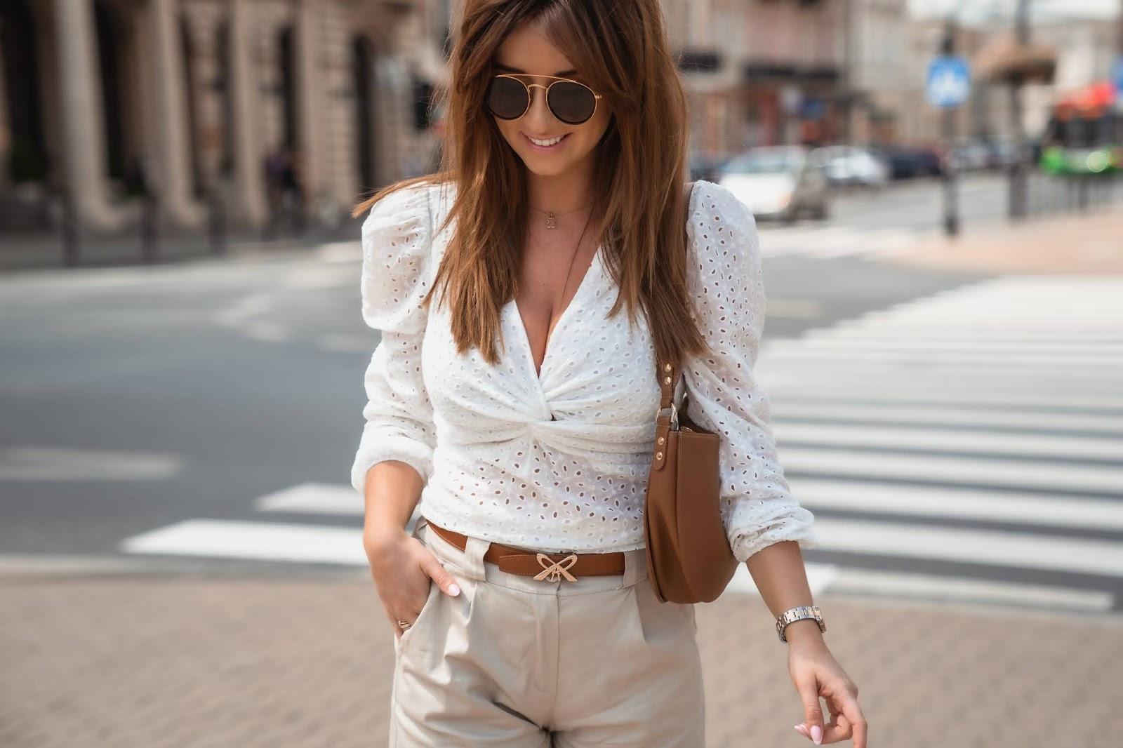 Okulary W Stylu Retro I Zestaw Na Upalne Lato W Miescie Summer In The City Style Styloly Blog By Aleksandra Marzeda