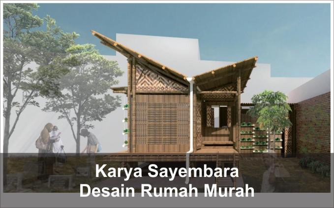 desain rumah murah konsep eko arsitektur