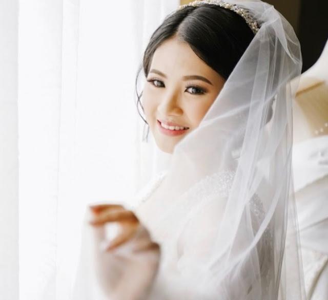 Selayer pengantin + kerudung pernikahan