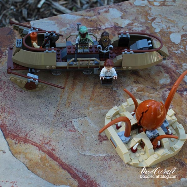 Star Wars Lego Desert skiff with sarlac
