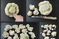 Limpiar y cocinar coliflor