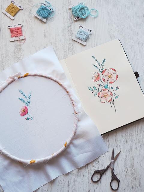 May Blossoms Stitch Along: Part 1