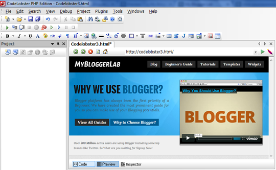 How To Customize Your Blogger Template Using Codelobster My