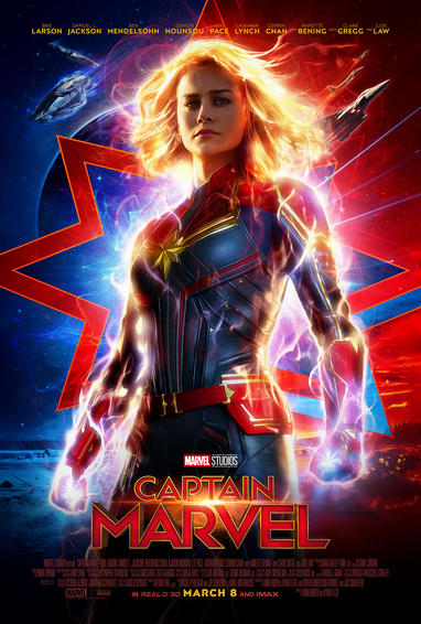 Captain Marvel poster glowing Captain Marvel