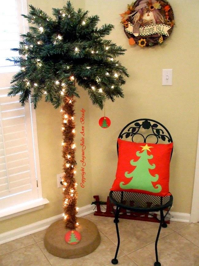 Artsy Christmas Tree Decor pillow coaster and ornament