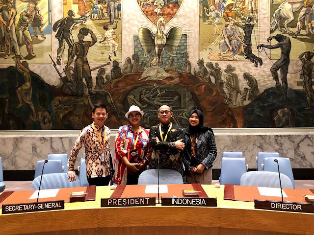 Batik at the UN Headquarters