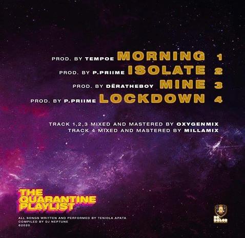 "Teni - ""The Quarantine Playlist"" EP ft DJ Neptune"