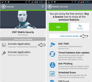 ESET Mobile Security & Antivirus PREMIUM v5.1.21.0 APK + Keys