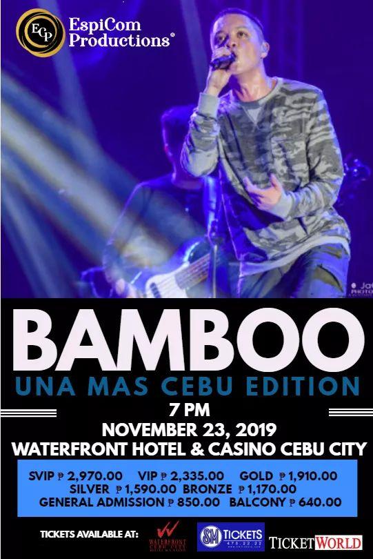 Bamboo: Una Mas Cebu Edition, Concert For A Cause