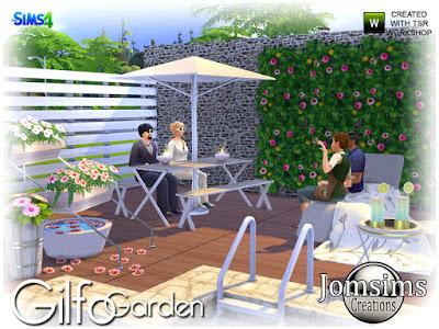 Gilfo Garden Гилфо Гарден для The Sims 4 Садовый набор Гильфо удобный и современный. Lounge Seat Lounge. плед для салона любви. скамейка стол с зонтиком деко. 3 цветка разное 1 растение цветы из стены. Одни цветы для пола деко. Журнальный столик. и лимонад деко со стеклом. Автор: jomsims