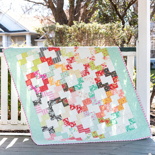 Jolly Bar Bakewell Quilt designed by Kimberly Jolly from the Fat Quarter Shop