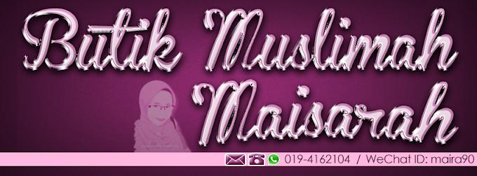 Tempahan Design Facebook Cover Photo : Butik Muslimah Maisarah