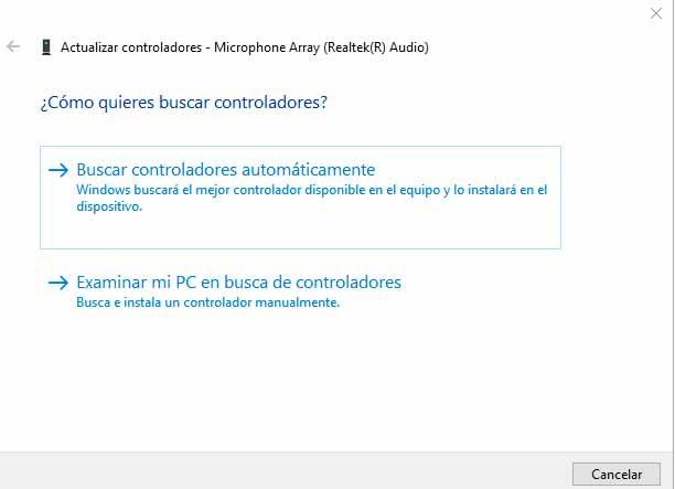 actualizar controladores de windows 10