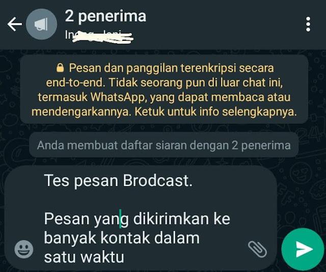 Cara Kirim Pesan Broadcast WhatsApp ke Banyak Nomor Sekaligus