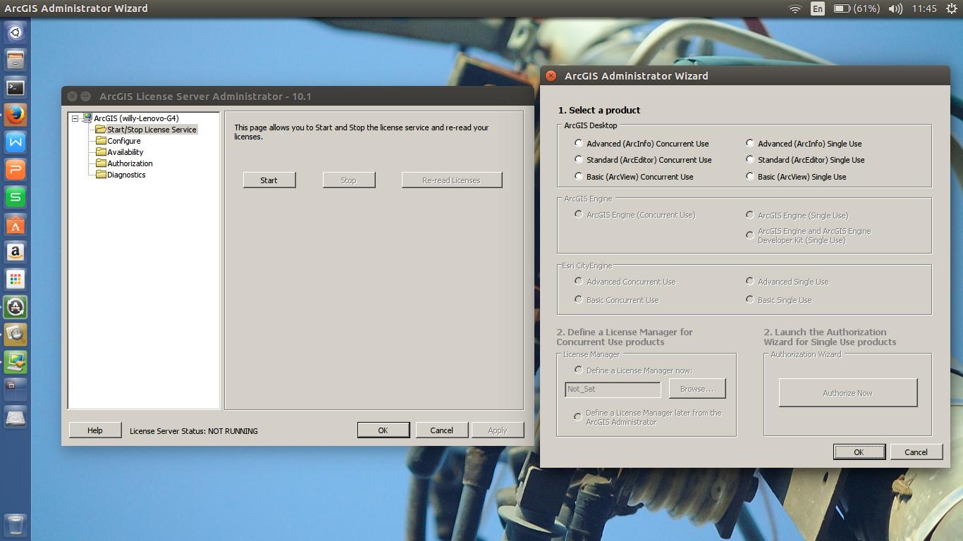 Instal ArcGIS Desktop 10 1 di Linux atau MacOS Mungkin