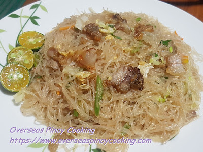 Pansit Bihon with Vigan Bagnet Recipe